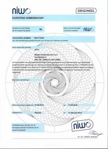 Niwo-Eurovergunning-Berger-Koerierservice-vof